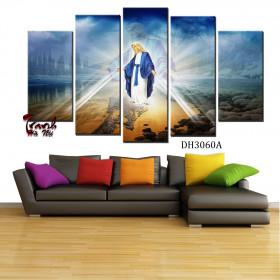 Tranh ghép bộ 5 bức nghệ thuật Đức Mẹ DH3060A