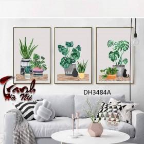 Tranh treo tường 3 bức nghệ thuật DH3484A