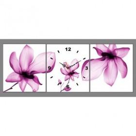Tranh đồng hồ 3 tấm DH23