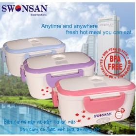 Hộp cơm điện cao cấp Swonsan khay nhựa