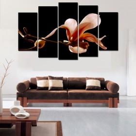 Tranh bộ 5 bức hoa Mộc Lan DH2073A (kích thước 150x90cm)
