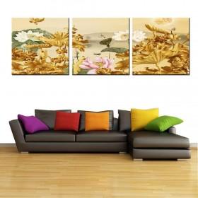 Tranh đồng hồ, tranh treo tường 3 bức nghệ thuật NT146