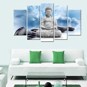 Tranh bộ 5 bứcĐức  Phật DH2100A (kích thước 150x90cm)