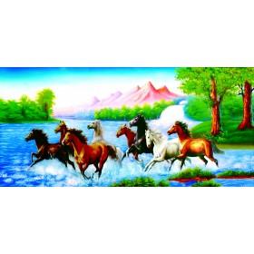 Tranh sơn dầu bát Mã SD069 (kích thước 80x120cm)