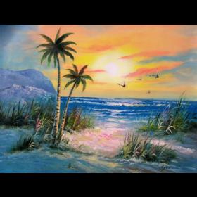 Tranh sơn dầu phong cảnh Biển SD129 (kích thước 50x70cm)