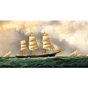 Tranh sơn dầu thuận buồm xuôi gió SD131 (kích thước 50x80cm)