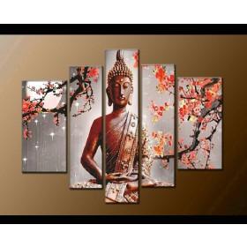 Bộ tranh sơn dầu Phật giáo SD151 (kích thước 135x90cm)