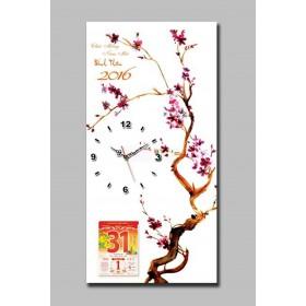 Mẫu tranh lịch đồng hồ TL08