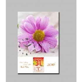 Mẫu tranh lịch đồng hồ TL39
