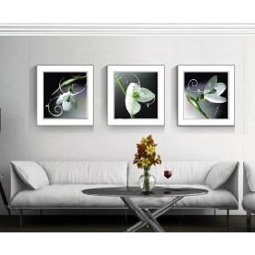 Tranh bộ 3 bức kèm khung kính TK014 (kích thước 90x30cm)
