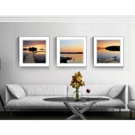 Tranh bộ 3 bức kèm khung kính TK011 (kích thước 90x30cm)