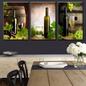 Tranh treo tường bộ rượu Vang DH1217A