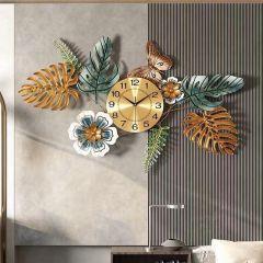 Đồng hồ trang trí lá decor DHS524