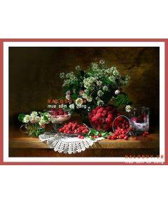 Tranh in nghệ thuật hoa quả PC17 (kích thước 50x80cm)