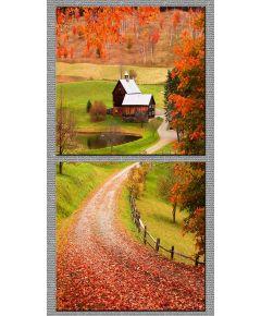 Tranh in nghệ thuật 2 tấm con đường làng 4040 DH142A