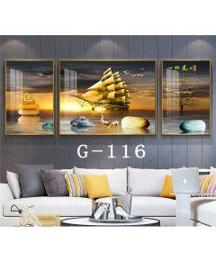 Tranh đồng hồ, tranh treo tường nghệ thuật thuận buồm xuôi gió NT335